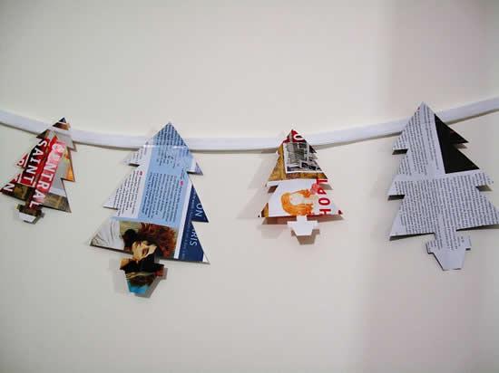 Ideias lindas com reciclagem para o Natal