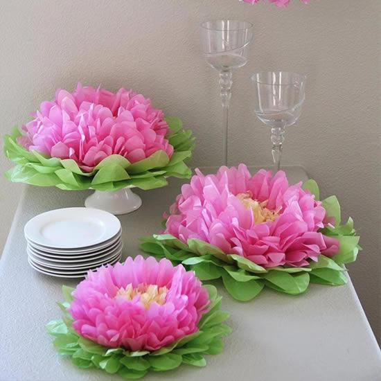 Flores perfeitas com papel