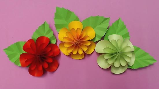 Lindas flores de papel