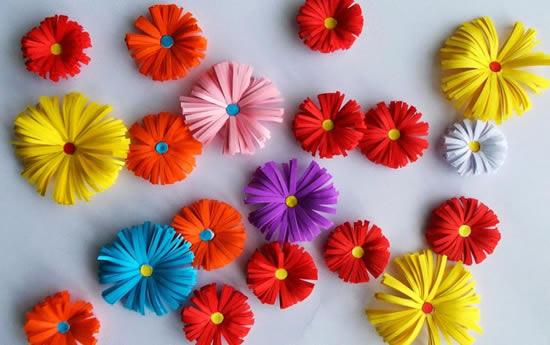 Flores delicadas de papel