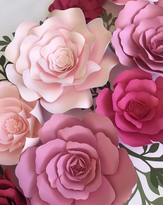 Flores de papel lindíssimas