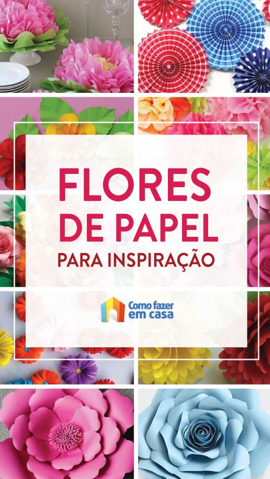 Lindas flores de papel para inspiração