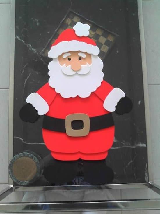 Papai Noel feito com EVA