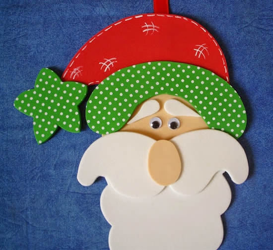 Lindo Papai Noel feito de EVA