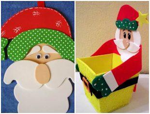 10 ideias criativas de Papai Noel com EVA