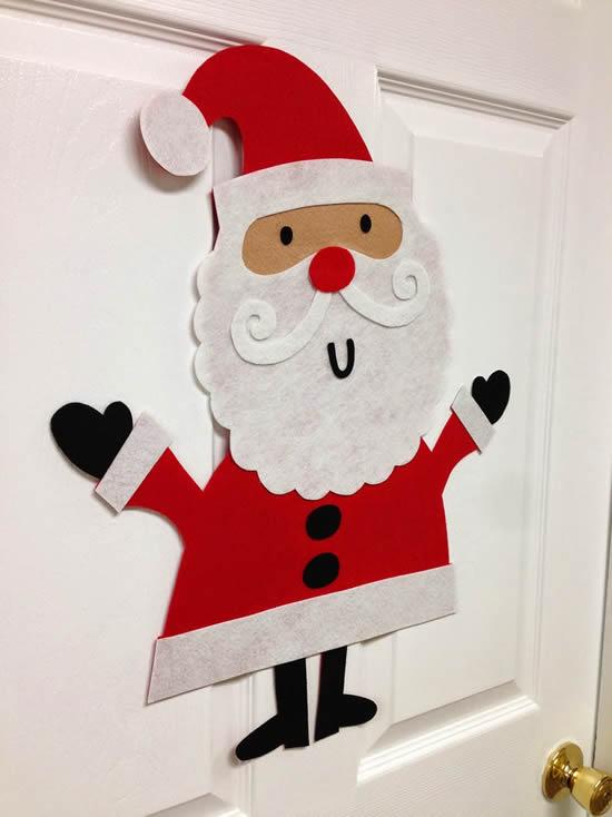 Papai Noel com tecido TNT