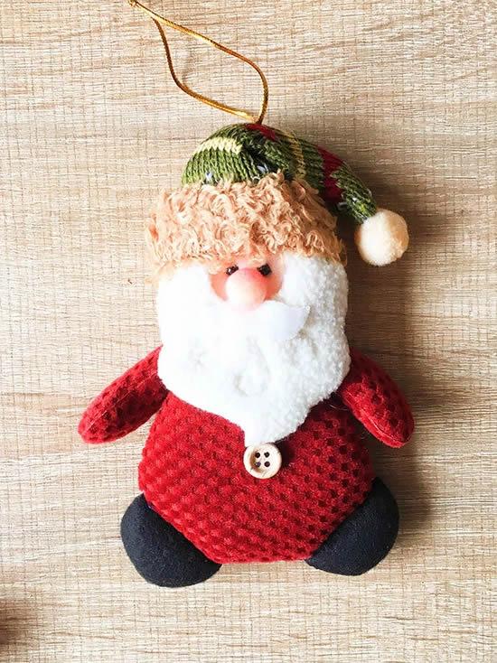 Lindo Papai Noel com tecido