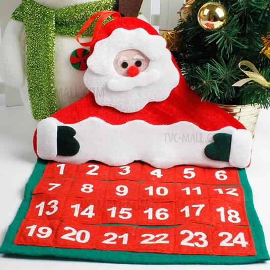 Calendário de Papai Noel em tecido