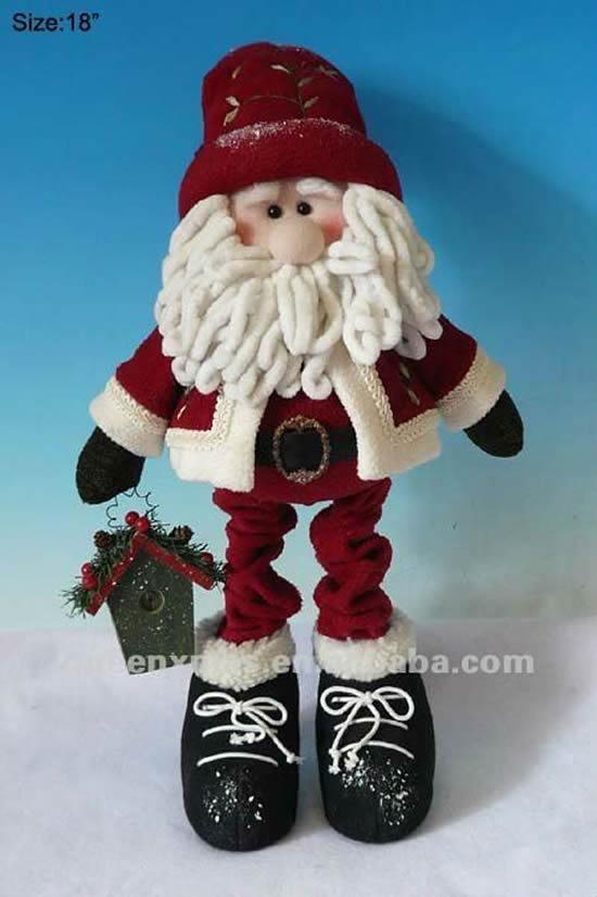 Papai Noel lindo com tecido