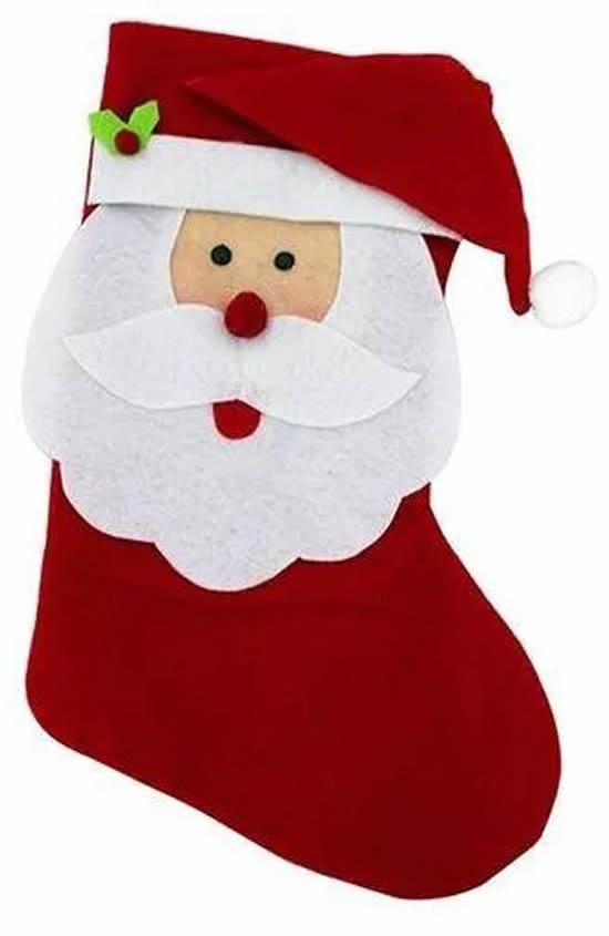 Bota de Papai Noel com feltro