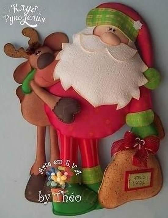Papai Noel com tecido
