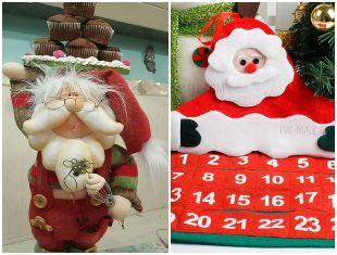 10 ideias de Papai Noel com tecido
